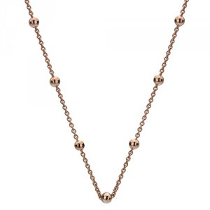 Stříbrný řetízek Hot Diamonds Emozioni Rose Gold Cable with Ball Chain 18