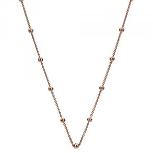 Stříbrný řetízek Hot Diamonds Emozioni Rose Gold Cable with Ball Chain 30