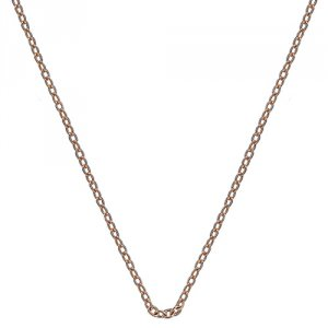 Stříbrný řetízek Hot Diamonds Emozioni Rose Gold Silver Cable Chain 16-18