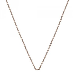 Stříbrný řetízek Hot Diamonds Emozioni Rose Gold Silver Cable Chain 30