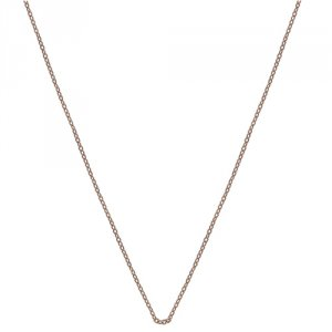 Stříbrný řetízek Hot Diamonds Emozioni Rose Gold Silver Cable Chain 35
