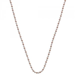 Stříbrný řetízek Hot Diamonds Emozioni Silv and Rose Gold Bead Chain 35