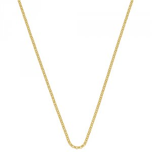 Stříbrný řetízek Hot Diamonds Emozioni Yellow Gold Belcher Chain 35