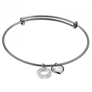 Ocelový náramek Hot Diamonds Emozioni Silver Bangle DC107
