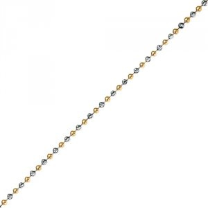 Stříbrný řetízek Hot Diamonds Emozioni Silver and Yellow Gold Bead Chain CH046-7-8