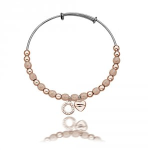 Ocelový náramek Hot Diamonds Emozioni Rose Gold Ula Bangle