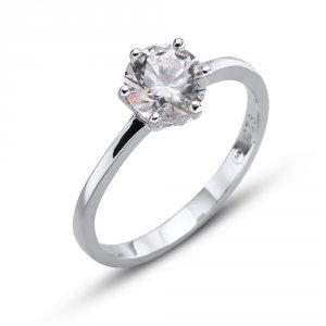 Stříbrný prsten s krystalem Swarovski Oliver Weber Brilliance Large 63222 36ba5d9be58