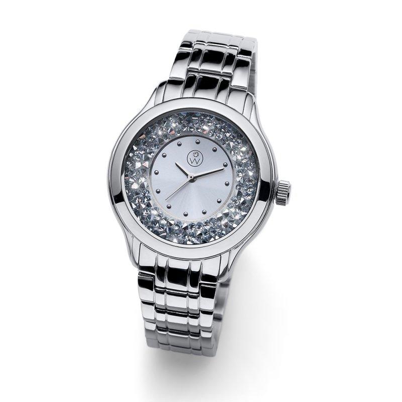 eef9f3462 Dámské hodinky s krystaly Swarovski Oliver Weber Rocks Steelband ...